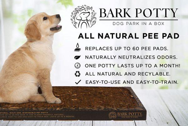 Puppy on a bark potty