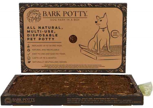 Bark Potty showing lid and actual pad