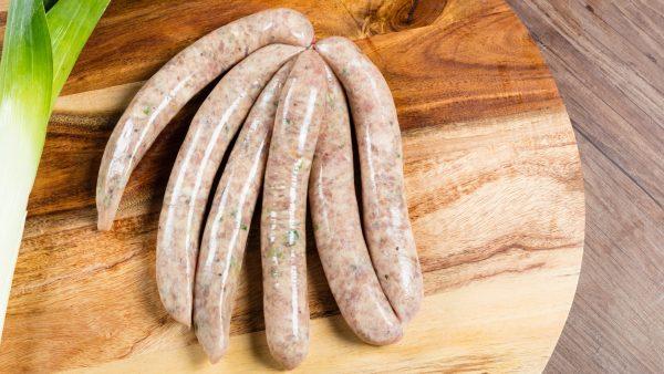 can dogs eat sausage - pork and leek sausages